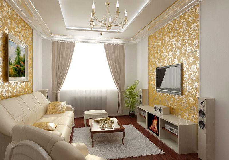 Ремонт зала своими руками дизайн фото