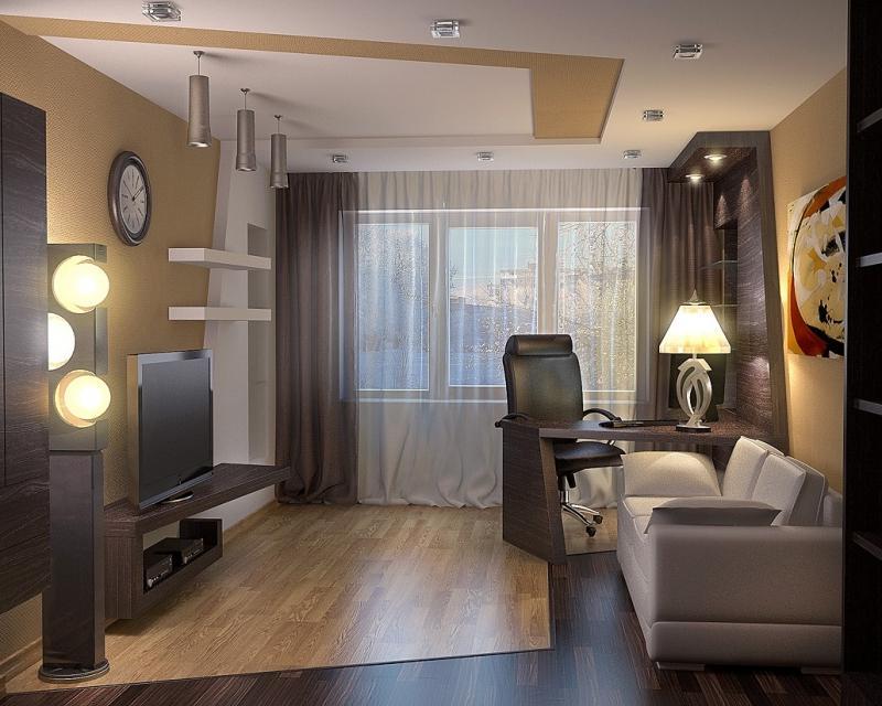 Дизайн стандартной однокомнатной квартиры 40 кв.м