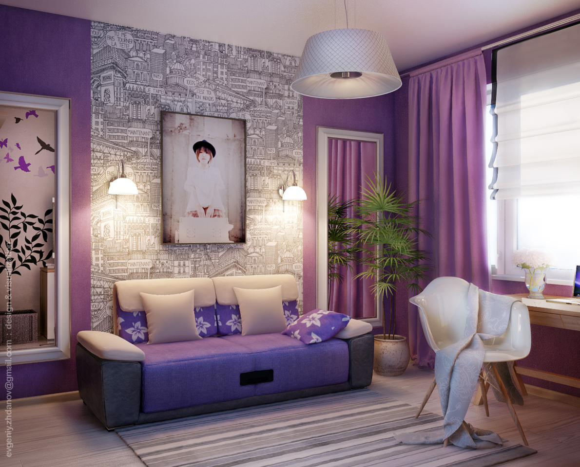 Дизайн комната молодой женщины