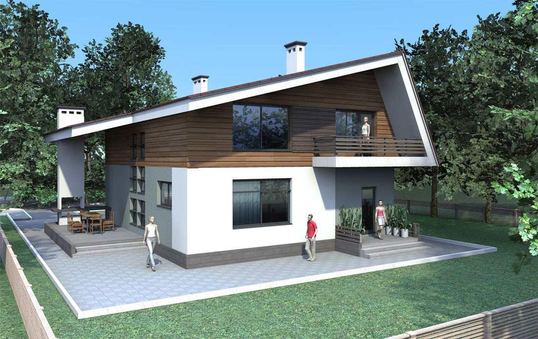 дом в стиле хай тек фото фасадов
