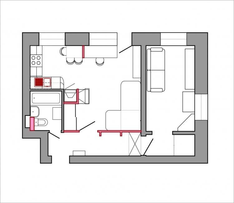 Перепланировка и ремонт 3 х комнатной хрущевки