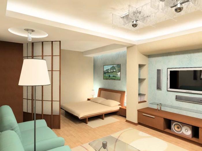 Фото простого дизайна однокомнатной квартиры