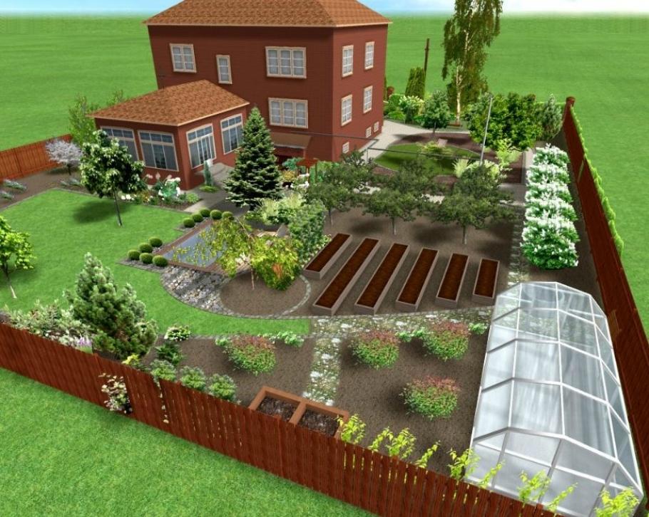 Ландшафтный дизайн дачного участка на 6 сотках