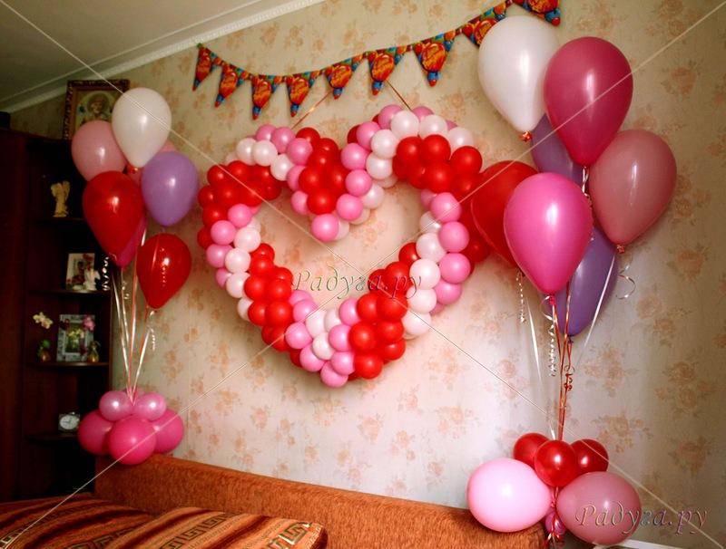 Как украсить комнату шариками своими руками