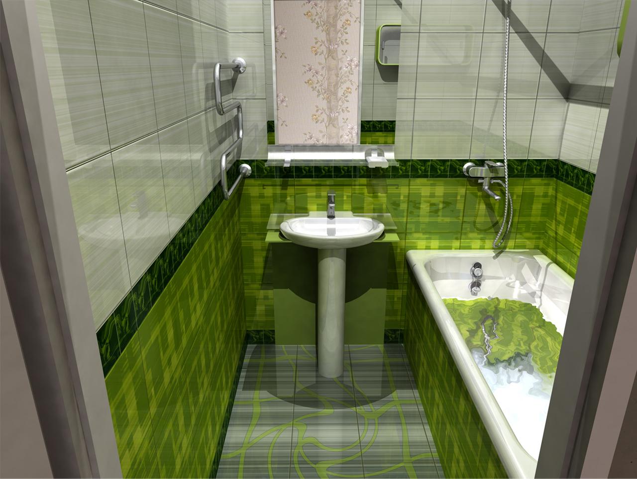 Небольшая ванна дизайн в квартире