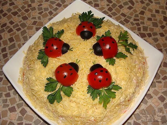Украшения для салата рецепты