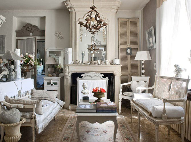 Французский стиль прованс в интерьере фото
