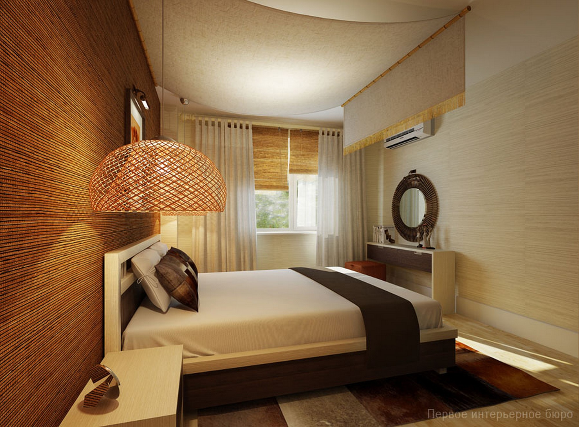 """Интерьер маленькой узкой спальни """" современный дизайн."""