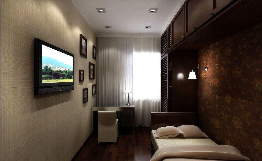 Узкая спальня гостиная дизайн