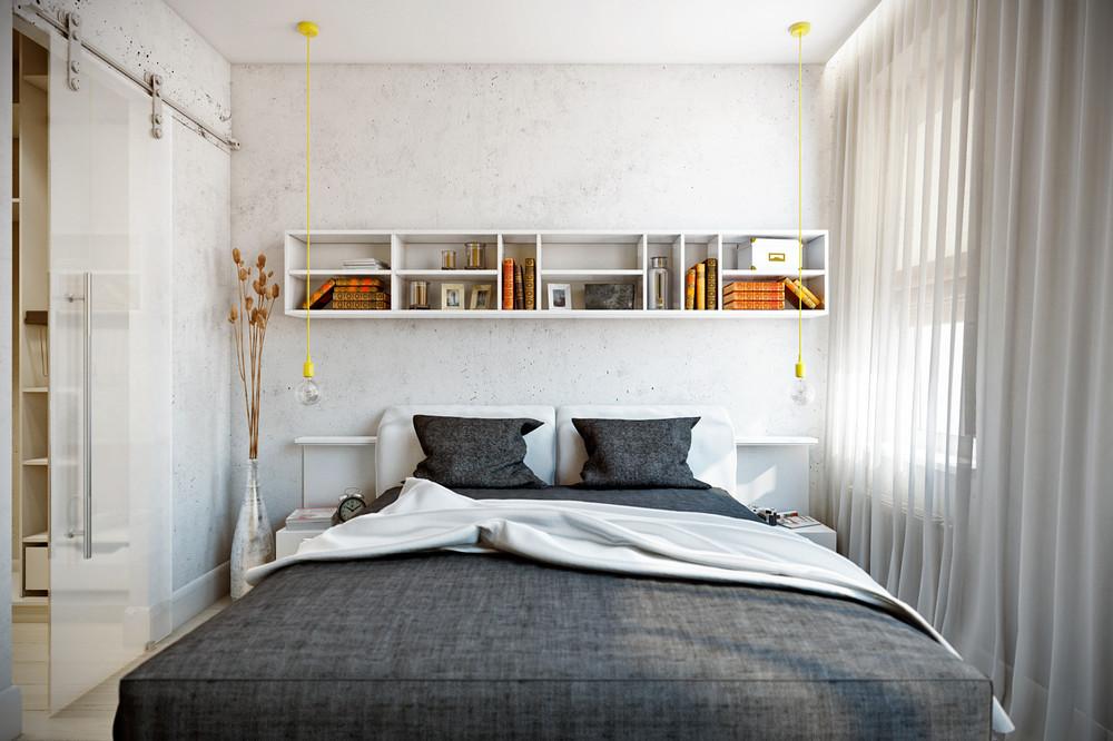 Спальная комната дизайн 9 кв.м