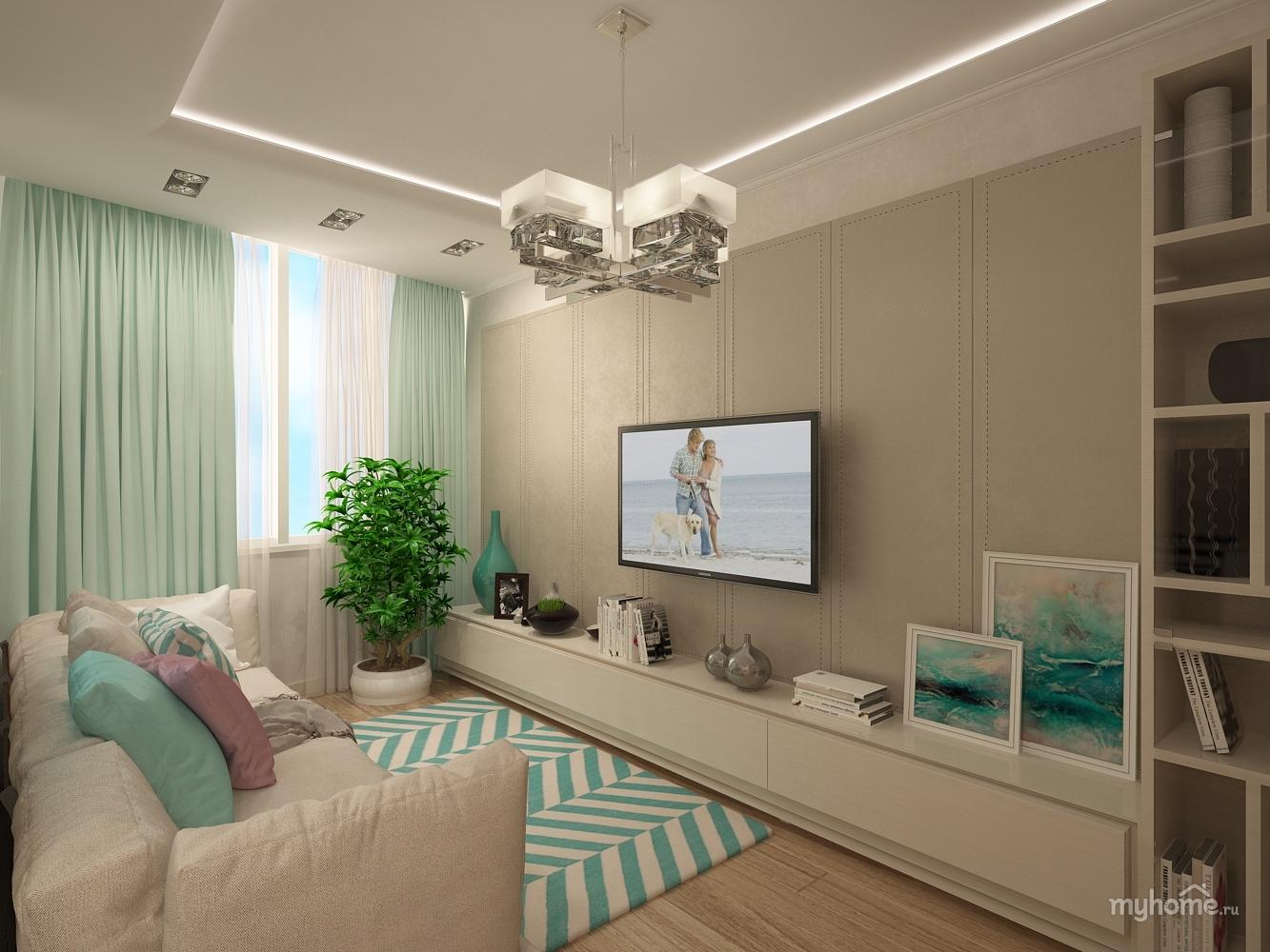 Гостиная Со Светлой Мебелью