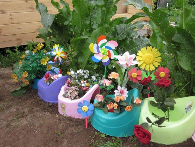 Украшаем садовый участок своими руками из подручных материалов фото