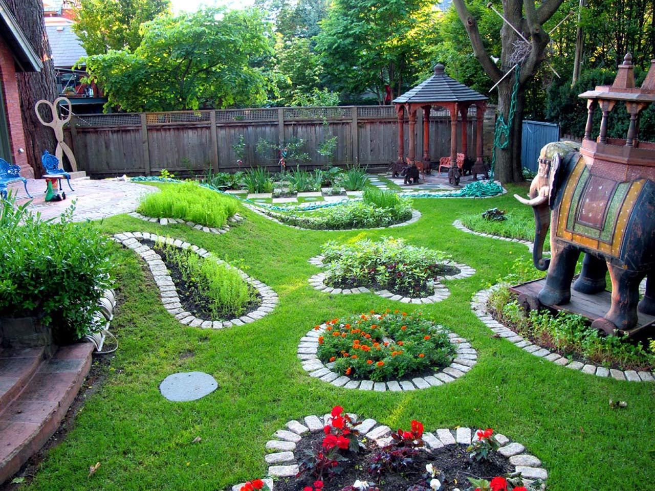 Ландшафтное оформление садового участка своими руками
