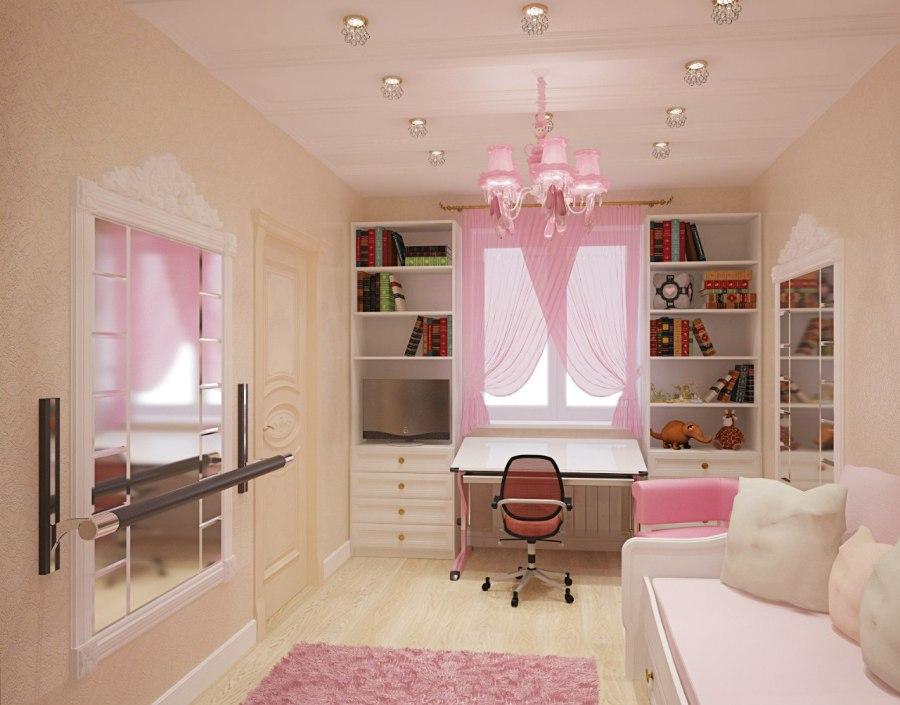 Дизайн детской маленькой комнаты для девочек дизайн