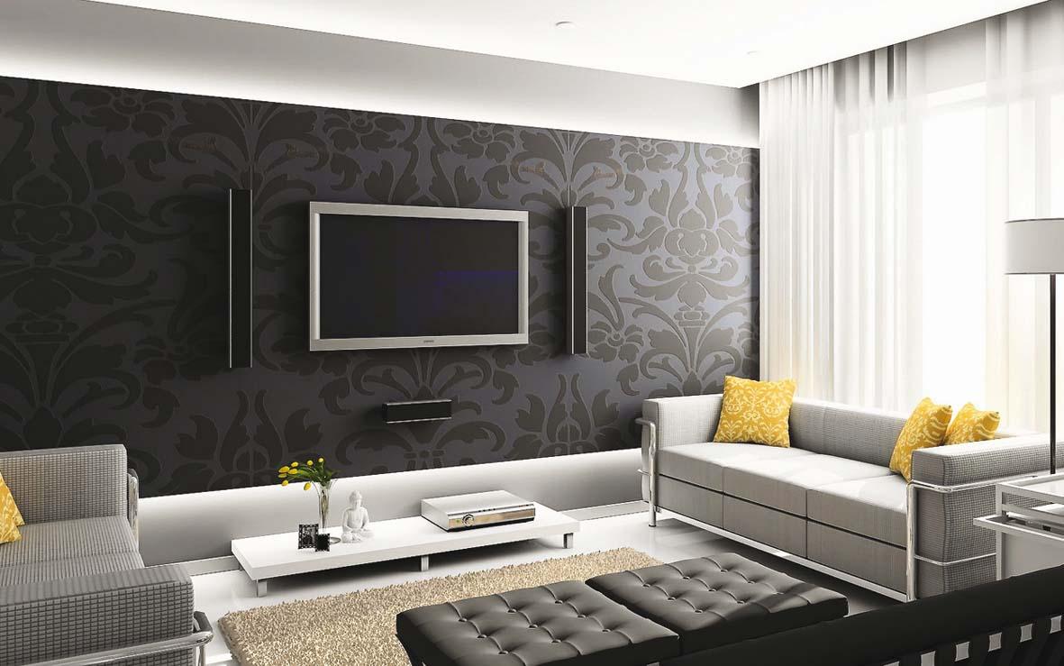 Интерьеры обоев в зале фото в квартире