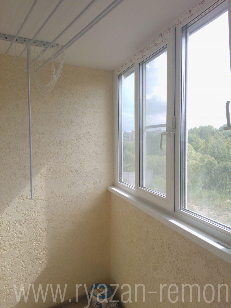 """Отделка стен балкона жидкими обоями """" современный дизайн."""