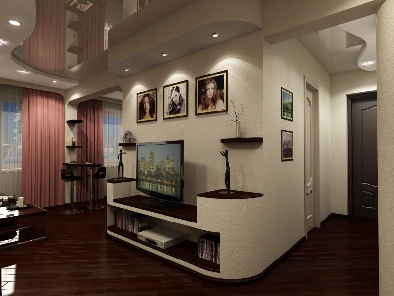 Ремонт дизайн хрущевки зал