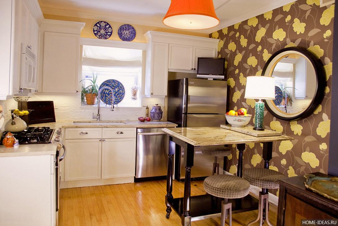 Ремонт на кухне собоями