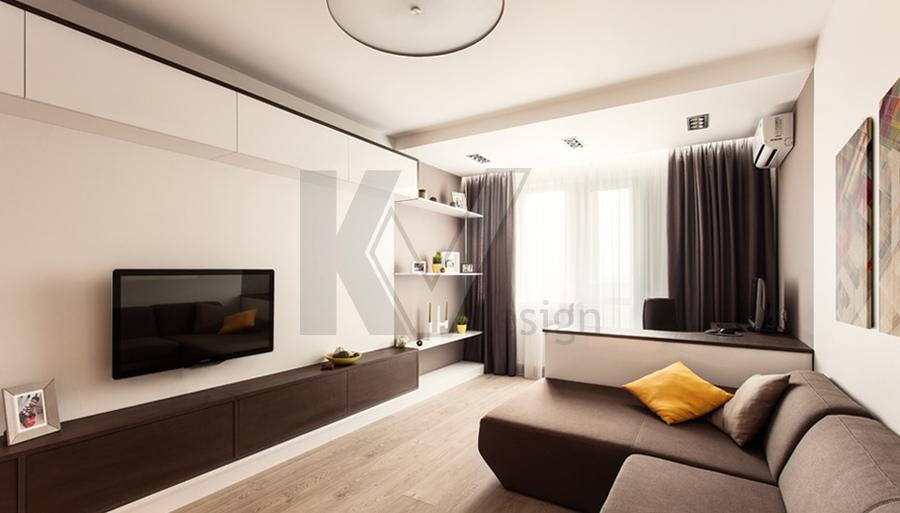 Фото интерьера однокомнатной квартиры в панельном доме