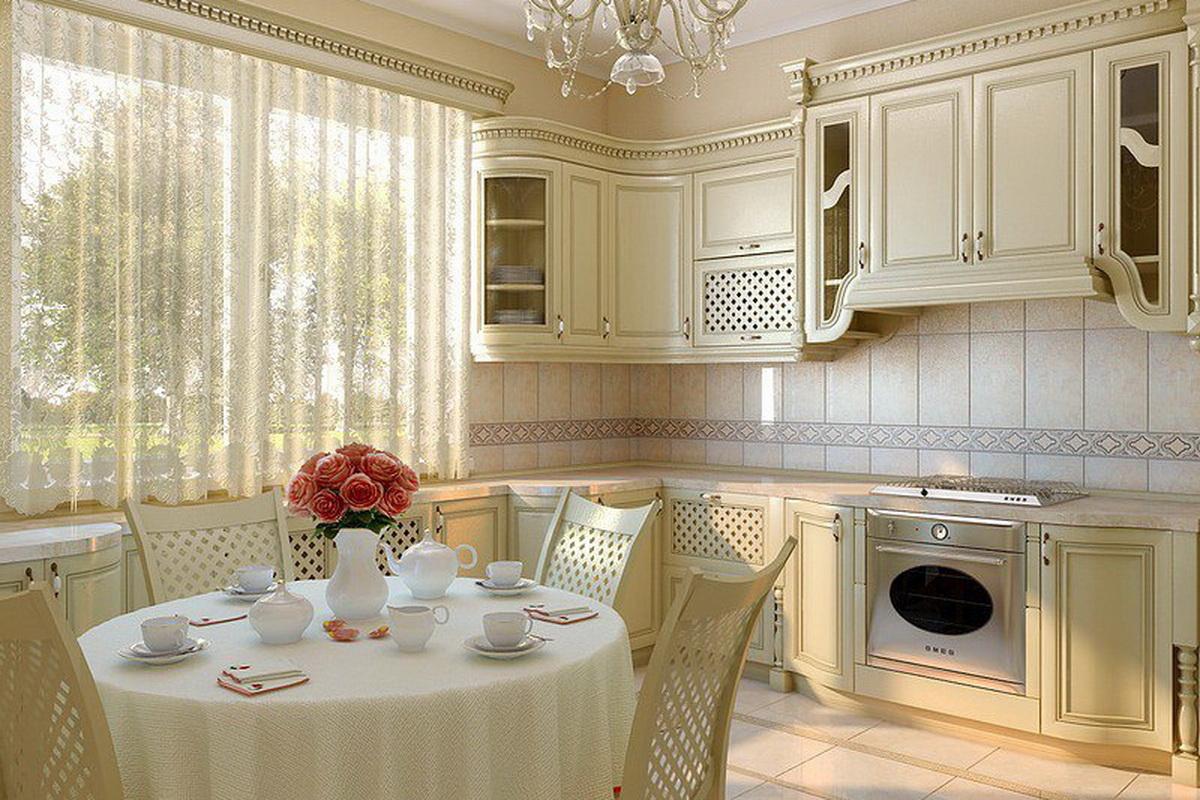 Кухни классика светлые дизайн