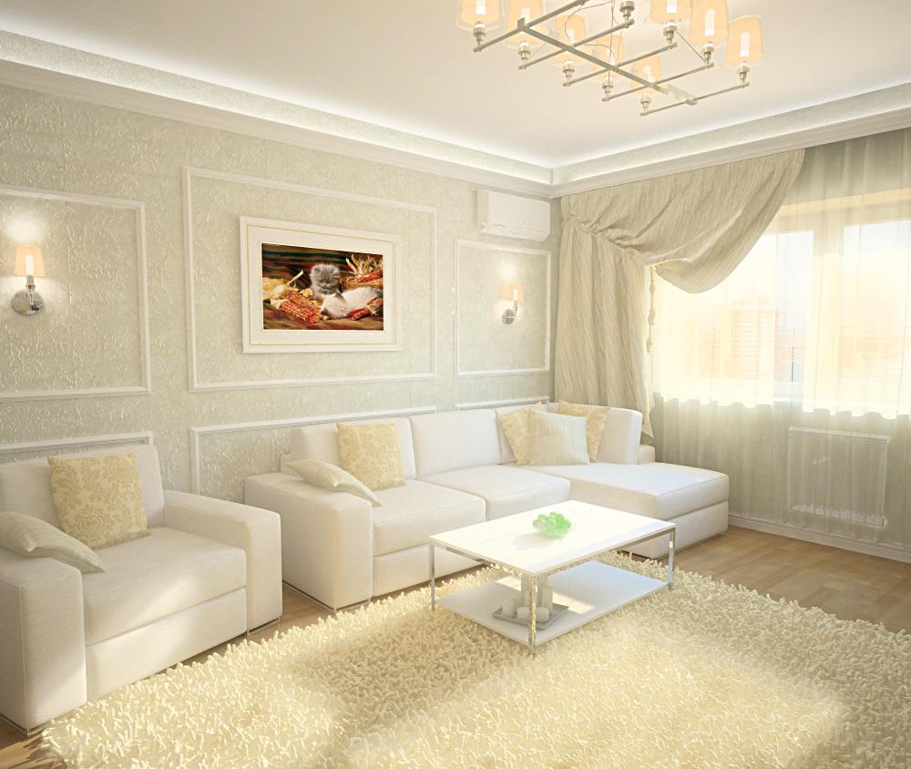Дизайн Гостиной Со Светлой Мебелью В Москве