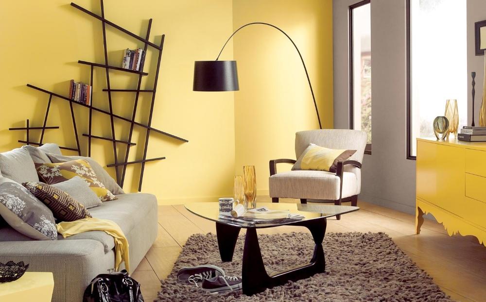Жёлтые стены в интерьере фото