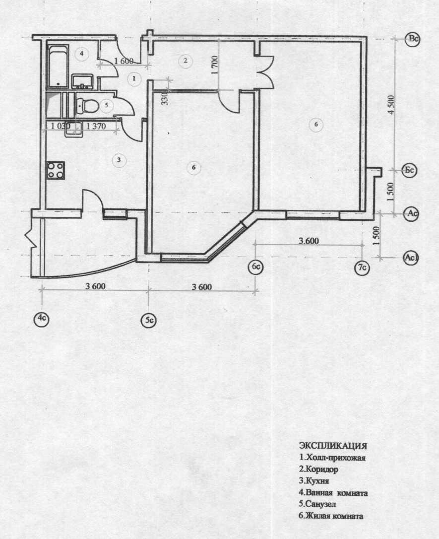 """Дизайн однокомнатной квартиры копэ парус """" современный дизай."""