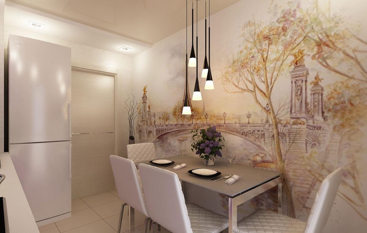 Кухни на стену дизайн