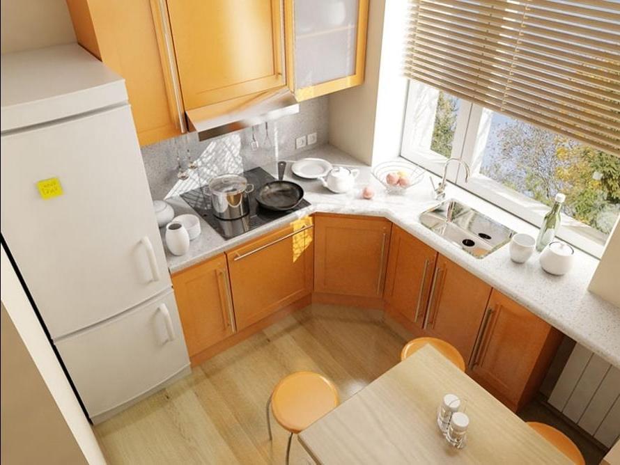 Дизайны для маленькой кухни
