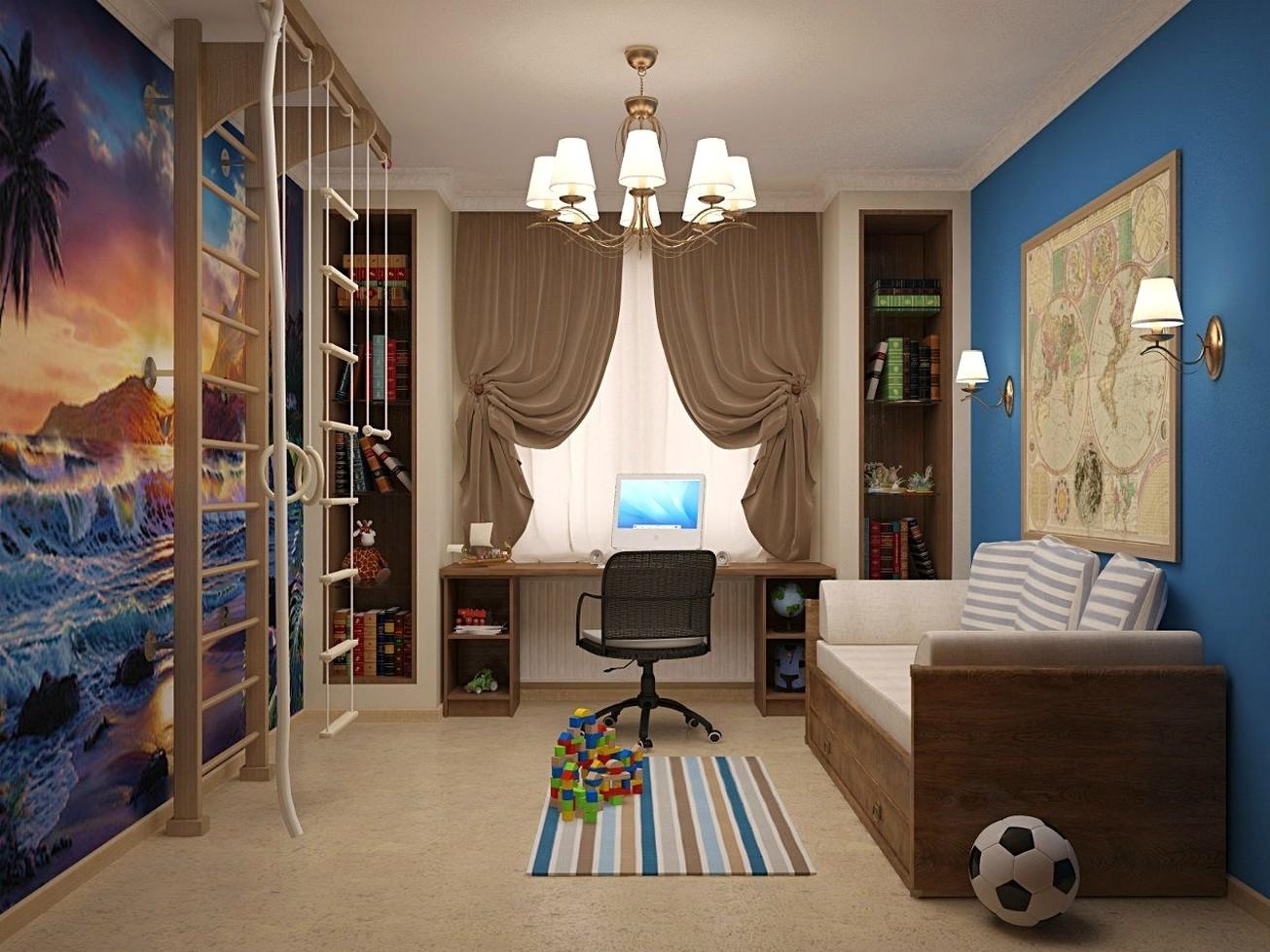 Фото дизайн детской спальни для мальчика