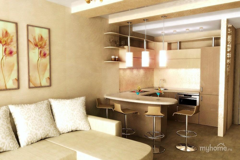 Кухни вместе с гостиной дизайн