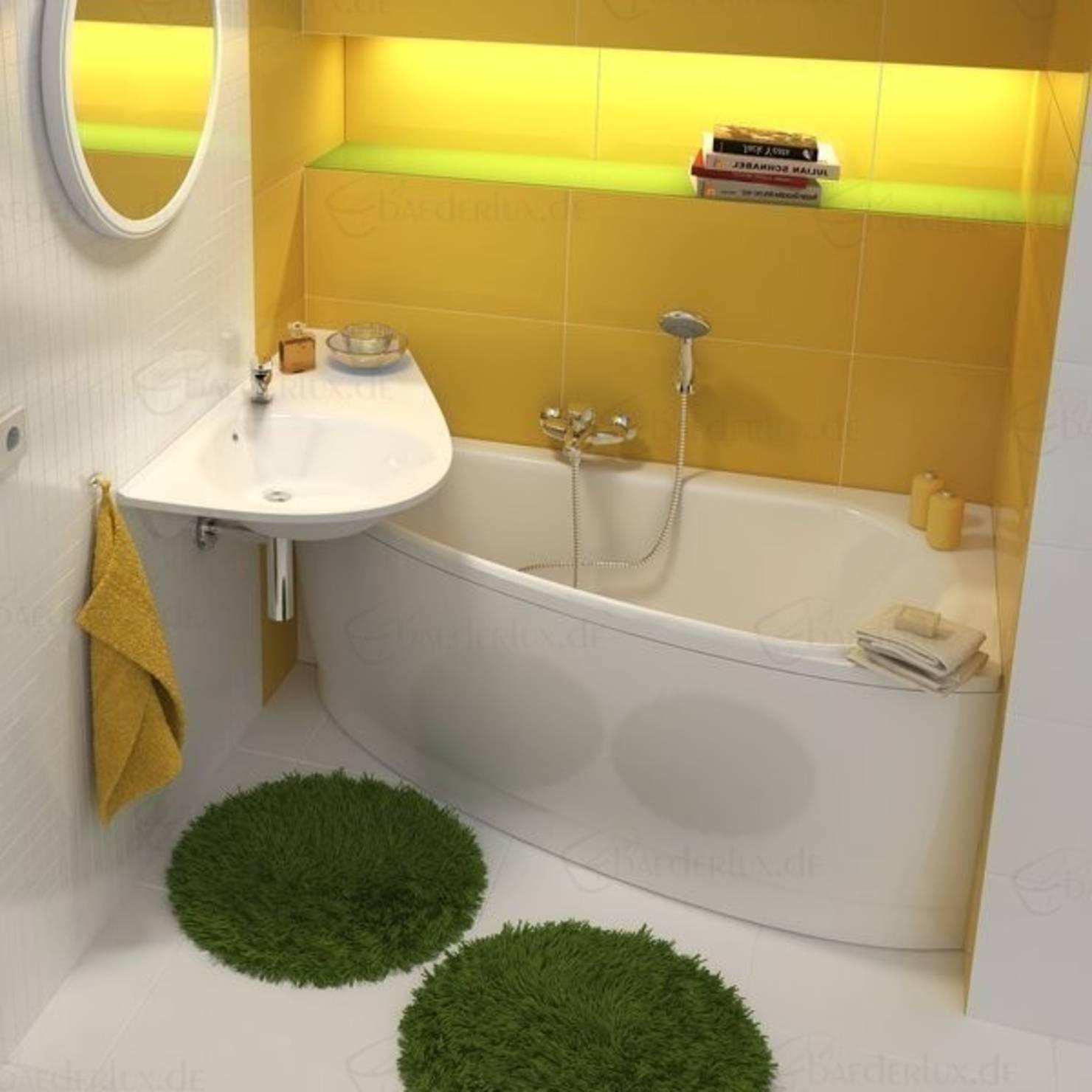 Фото дизайна ванной комнаты с акриловой ванной