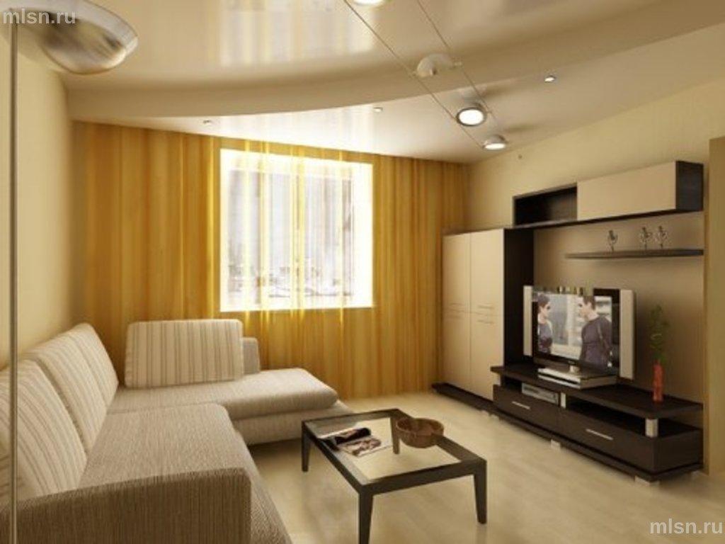 Ремонт зала в квартире 18 кв.м блочный дом