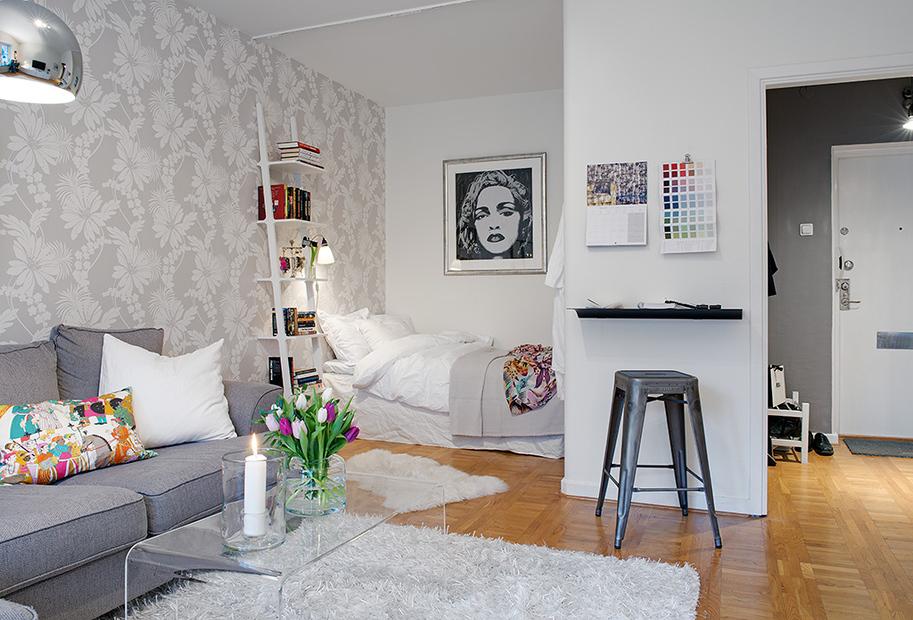 Однокомнатная квартира с нишей дизайн для ребенка