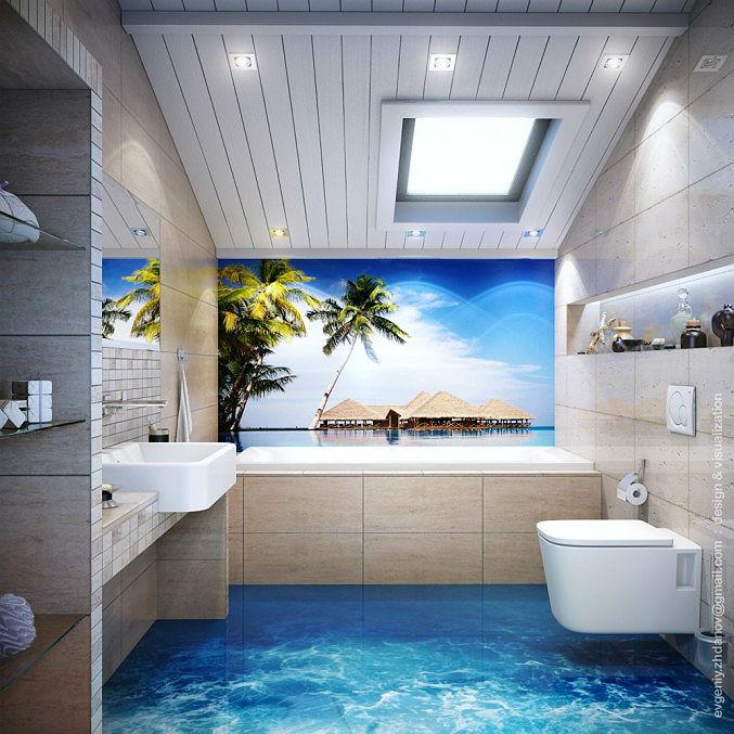 Ванная с морским дизайном