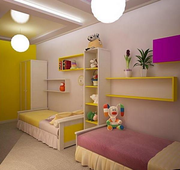 Дизайн детской комнаты для двоих детей (разнополых) фото