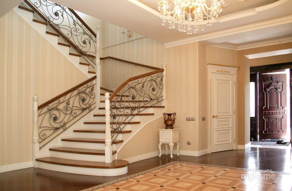 Дома с лестницами дизайн интерьер фото