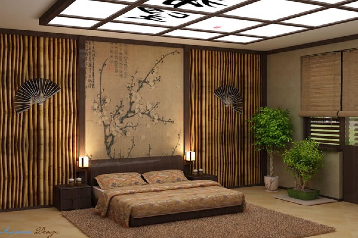 Дизайн японский в комнате