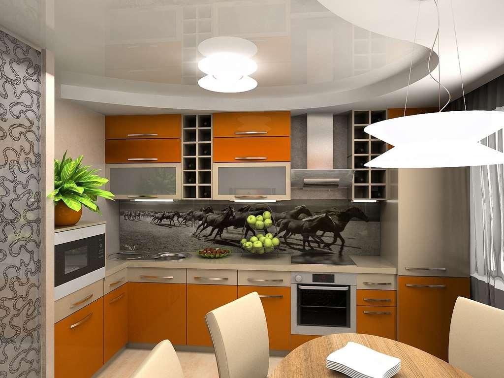 Дизайн кухни 6 м.кв 2017-2018