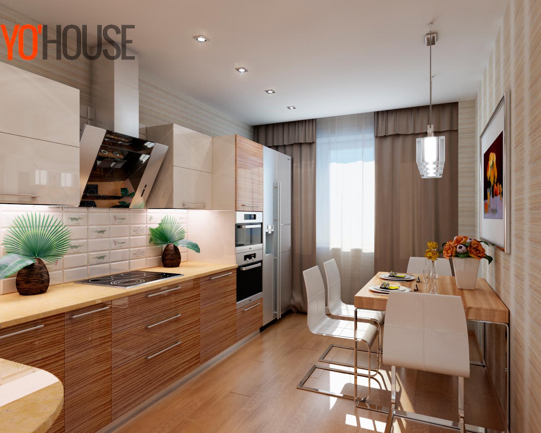 """Дизайн 2-х комнатной квартиры 64 кв.м """" современный дизайн."""