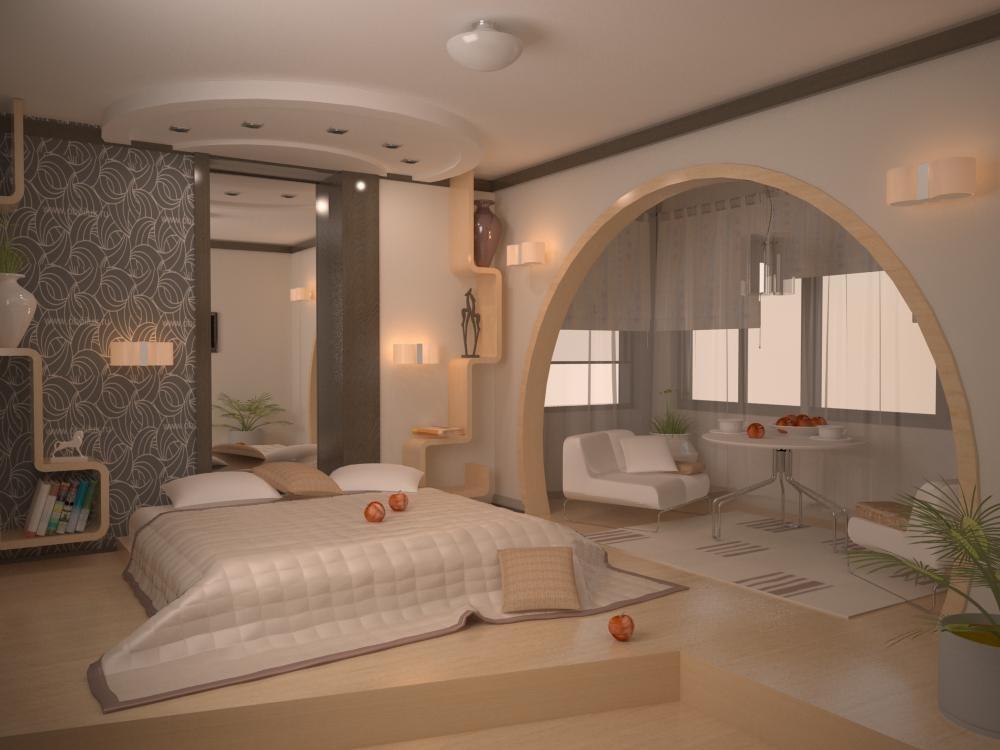 """Дизайн спальни 10 кв.м с балконом """" современный дизайн."""