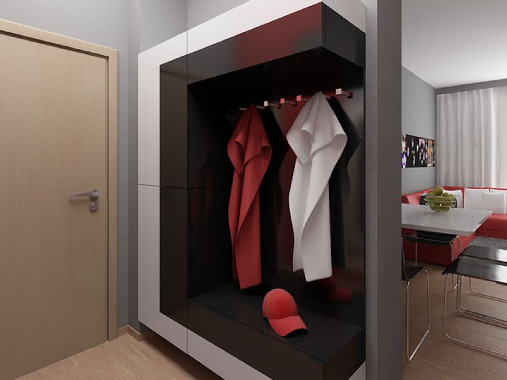 Мебель дизайн прихожая