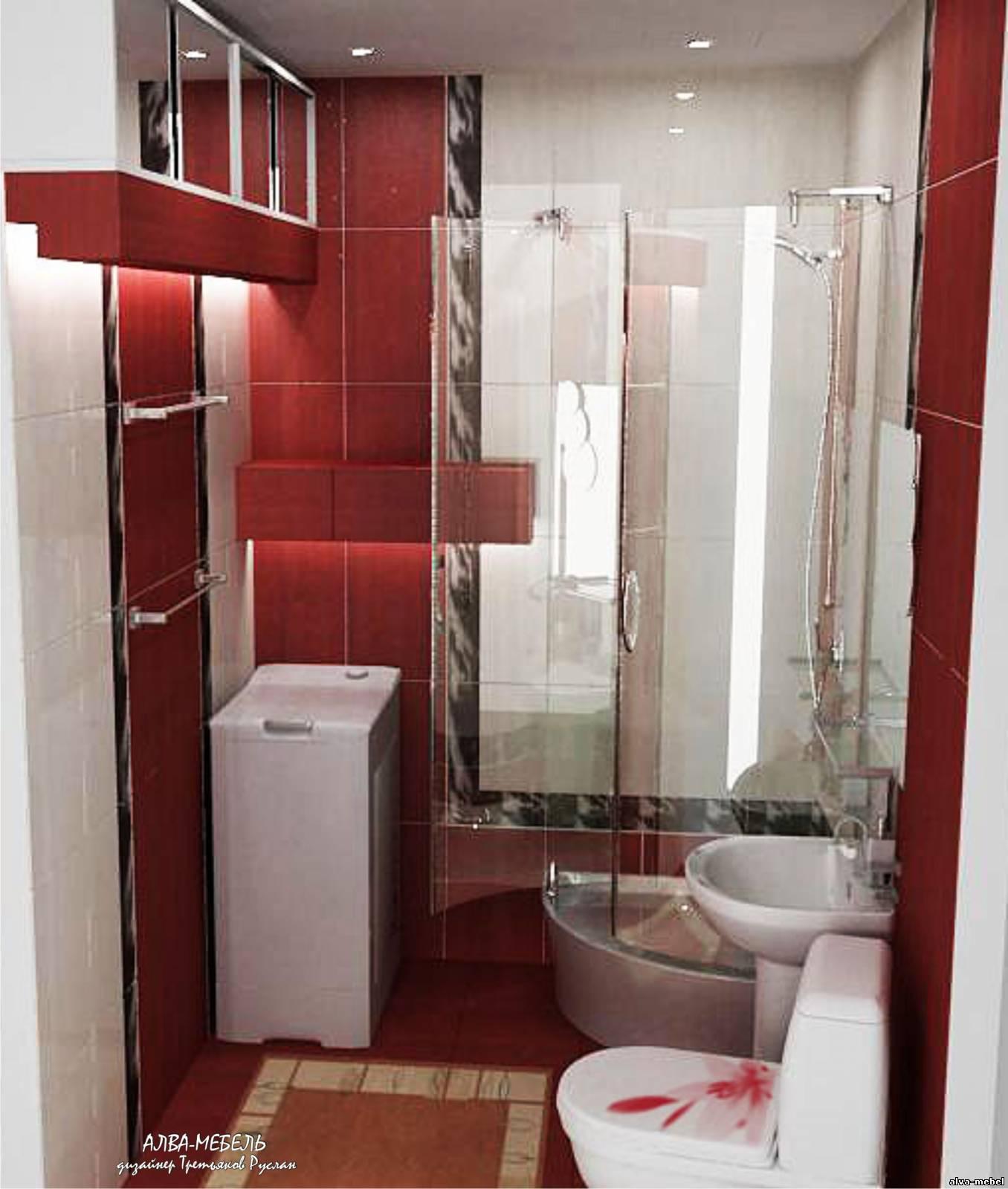 Ванная комната маленькая дизайн с душевой кабиной