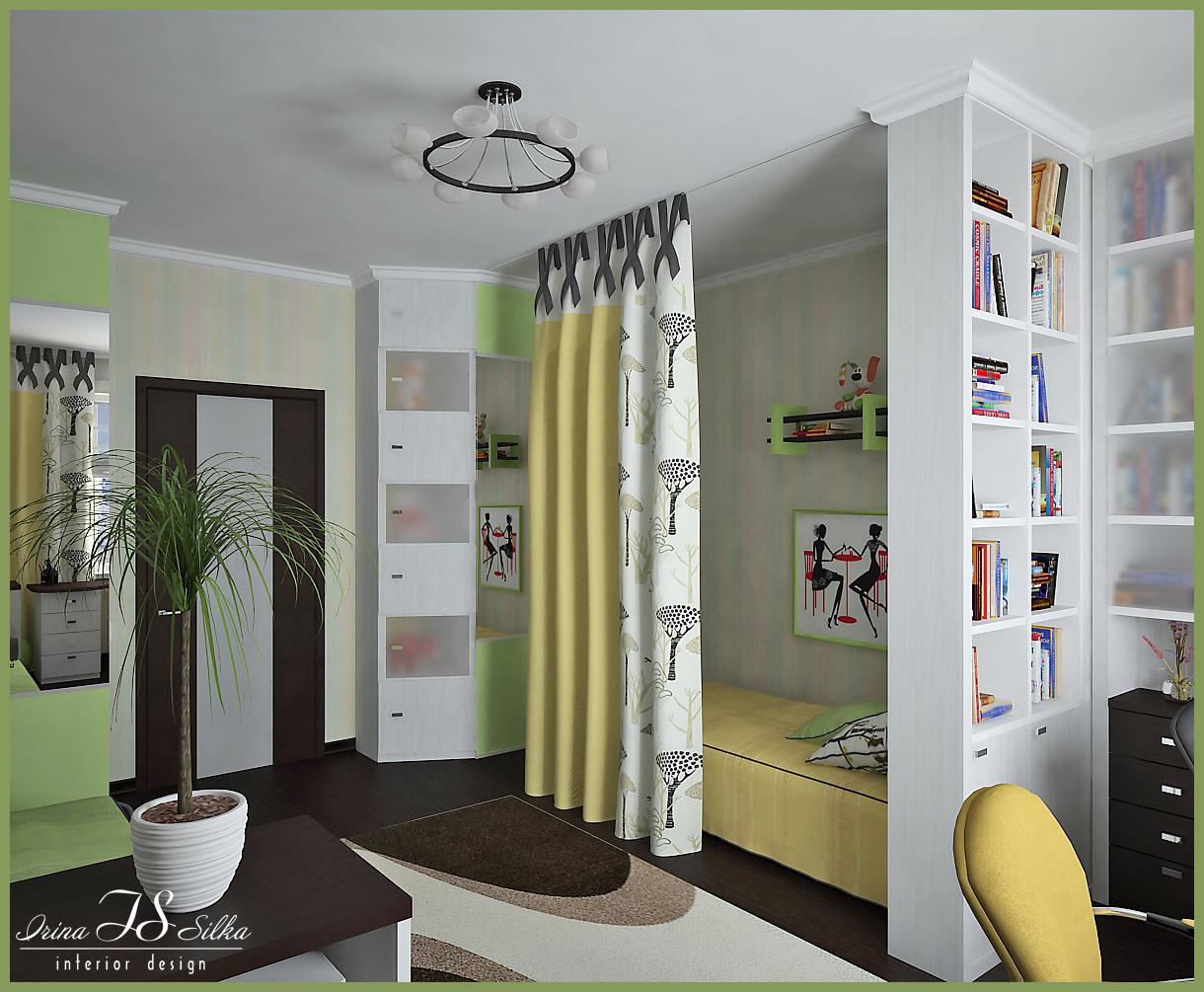 Дизайн спальни для разнополых детей 16 квм