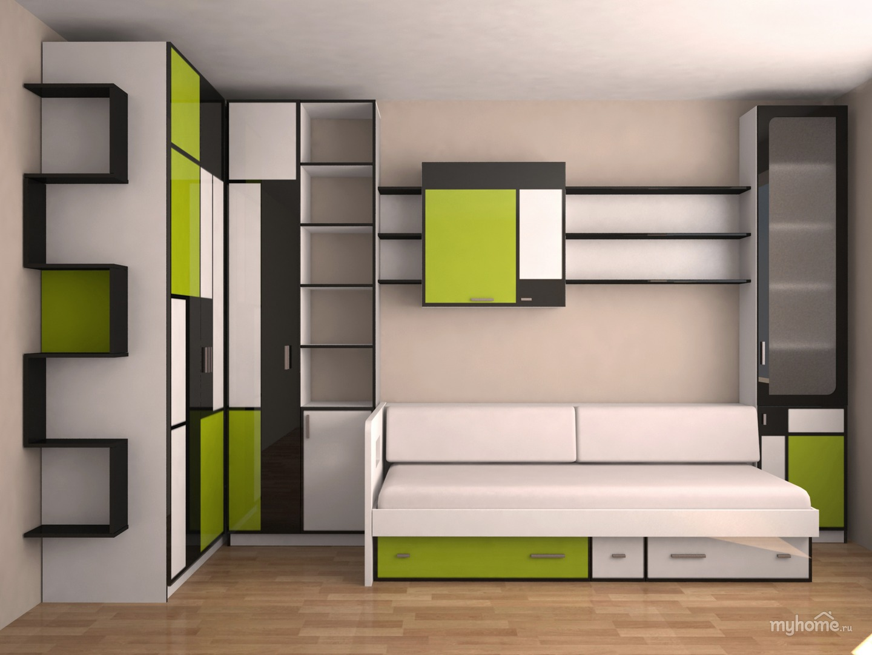 Встроенная мебель для подростка мальчика.