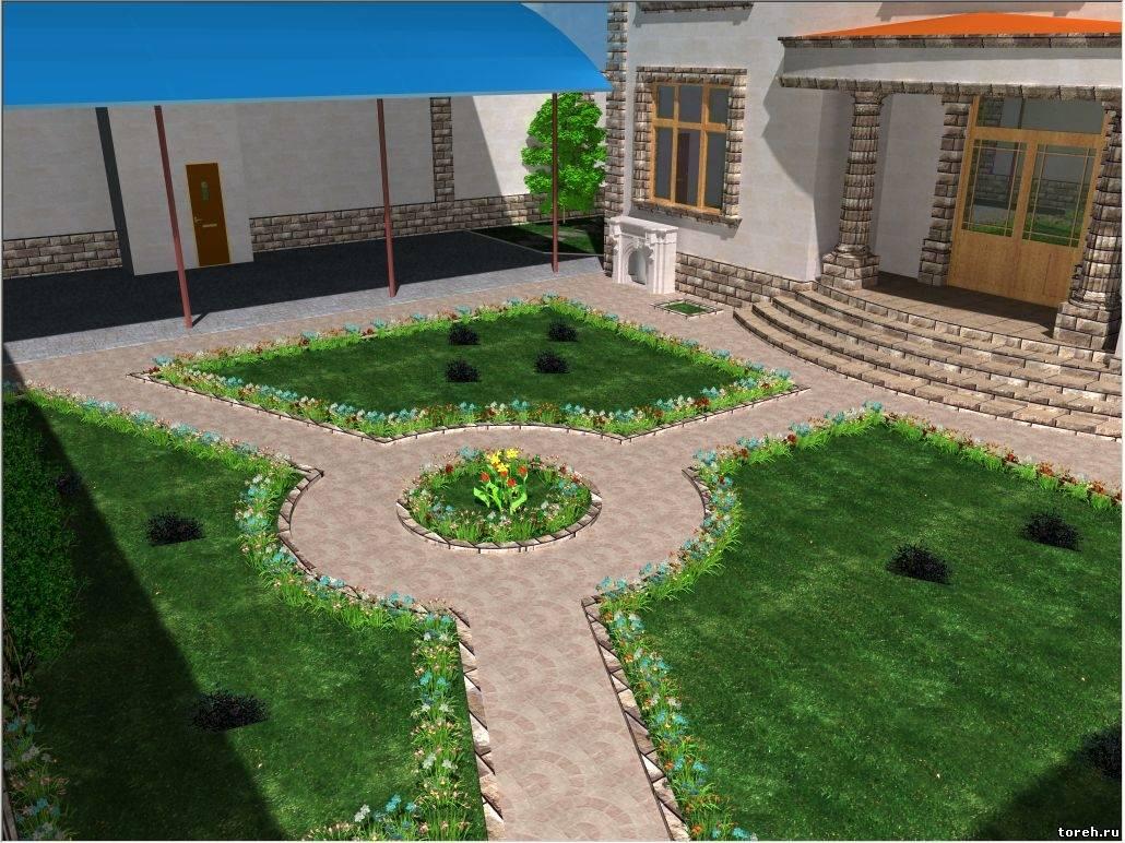 Фото как сделать двор красивым