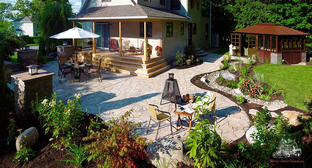 Как обустроить двор частного дома своими руками