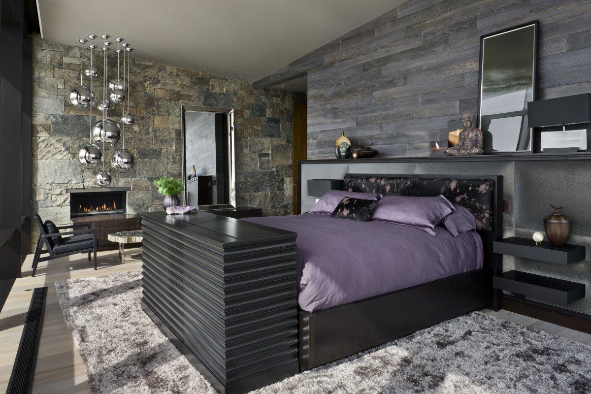 Modernes Schlafzimmer Grau