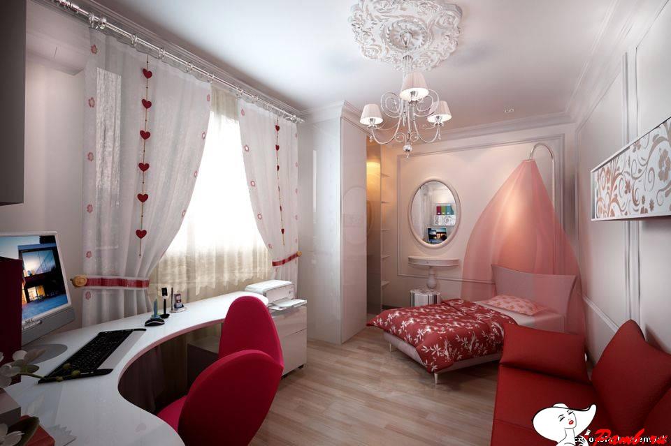 Дизайне интерьера комнаты для девушки фото