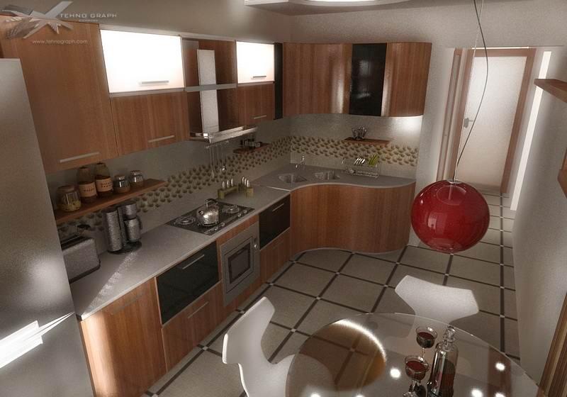 345Кухня ремонт дизайн в квартире